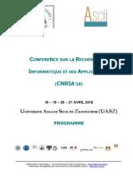 Programme Conf CNRIA2018