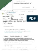 Scorciatoie Da Tastiera in Windows 1