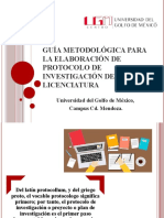 Guía metodológica para la elaboración de protocolo de