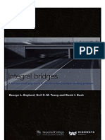 Integral Bridges (a Fundamental Approach to the Time Temperature Loading Problems) - Goerge L England