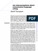 Misconceptions about communicative language teaching