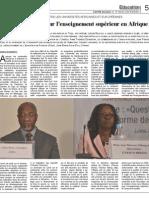 PACTED Conference - Lomé, Togo - Nouveau départ pour l'enseignement supérieur en Afrique