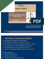 A defesa do FORNECEDOR em juízo e o ônus da prova