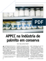 palmito em conserva APPCC