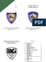 Buku Peraturan Nasional Time Rally 2011