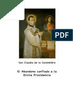 EL ABANDONO CONFIADO A LA PROVIDENCIA_San Claudio de la Colombière