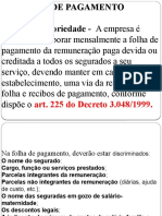 Slides Folha de Pagamento