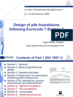 DESIGN OF PILES USING EURO CODE-7