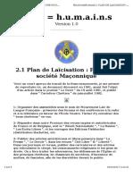 Cible 666-2.1 Plan de Laïcisation. Pour une société Maçonnique