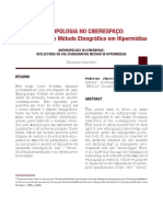 ANTROPOLOGIA NO CIBERESPAÇO