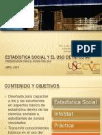 Estadística Social y el Uso de InfoStat