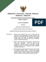Peraturan Gubernur DKI No 75 Tahun 2005