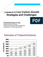 Chaiwat Muncharoen Thailand. Low Carbon Growth Strategies and Challenges