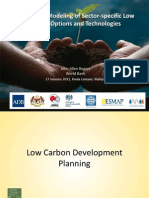 John Rogers. Bottom-Up Modeling of Sector-Specific Low Carbon Options and Technologies. Low Carbon Development Planning.