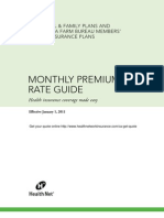 Health Net Monthly Premium Rate Guide CA 2011