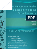 Waste management in the emerging Philippine biofuel industry