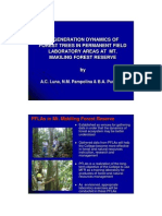 Regeneration dynamics of forest trees in permanent field laboratory areas at Mt. Makiling Forest Reserve