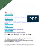 Introducere in C Instructiuni Pointeri si functii proprii Vectori Matrice bidimensionale Structuri de date Siruri de caractere Recursivitate Lista
