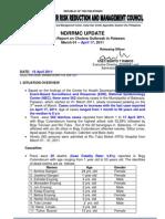 NDRRMC Update Diarrhea Cases in Palawan  18 April 2011