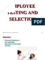 Employment Testing & Selection-HRM