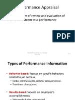 Performance Appraisal HRM