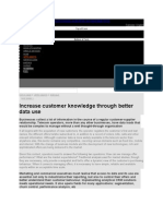 Increase customer knowledge through better data use