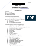 course outline-hrm