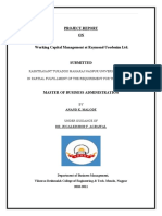 PROJECT REPORT OF ANAND MALODE 1(EXISTING)