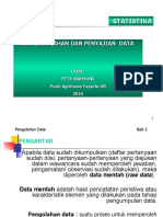 B. Penyajian data