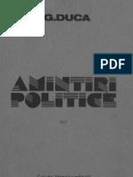 Amintiri Politice Vol I