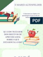 Formação O letramento no Currículo da Pré Escola, da Rede Municipal de Educação de Salvador