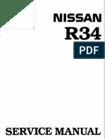 Nissan Skyline R34 Workshop Manual English