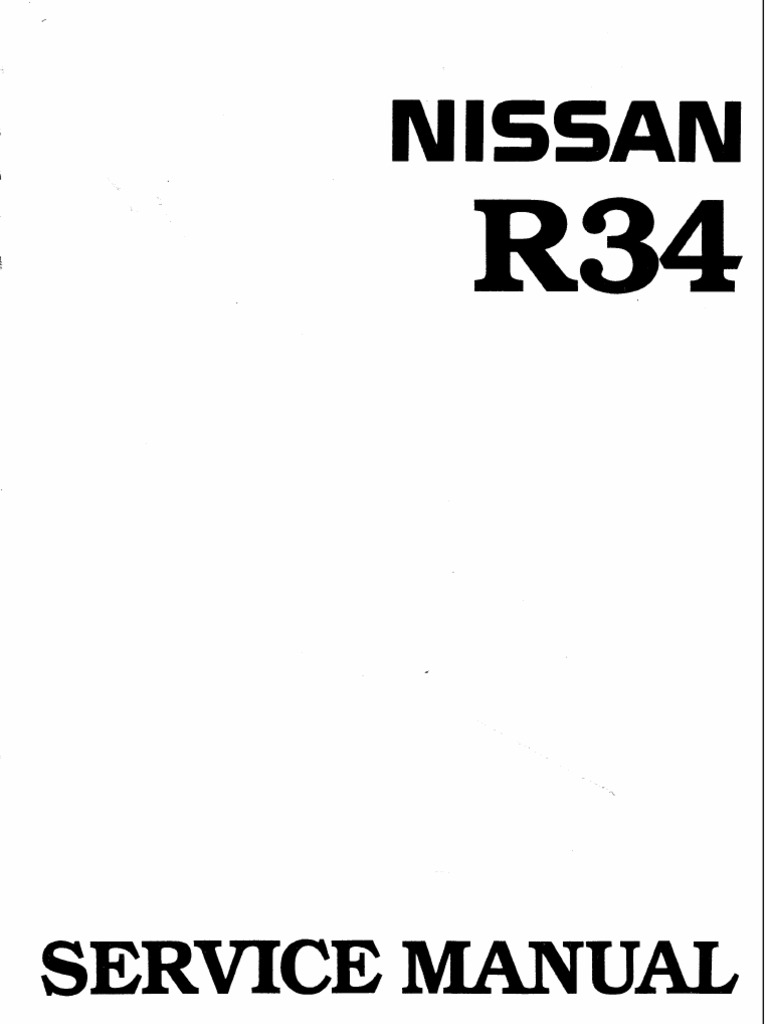 Nissan Skyline R34 Workshop Manual English | Fuel Injection | Turbocharger