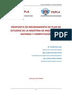 PROYECTO DE MODIFICACION DE PLAN DE ESTUDIO DE MAESTRIA EN SISTEMAS MODIFICADO