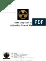 Safe Disposal of Ionization Smoke Alarms