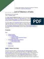 union cabinet 2009-14