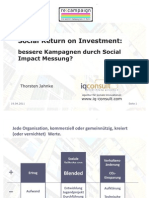 Thorsten Jahnke - Social return on investment
