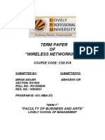 Term paper of  wireless networking