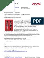 73 neue Stoßdämpfer von KYB zum Auswechseln / Größtes Stoßdämpfer-Sortiment
