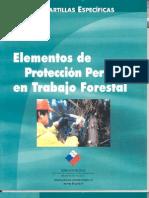 Elementos de protección personal en el Trabajo Forestal