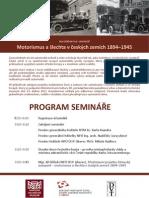 Motorismus a šlechta - aktuální program