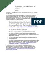 Considerações operacionais para controladores de domínio virtualizados