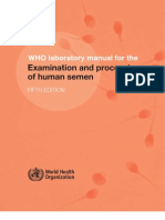 WHO Laboratory Manual for the Examination and Processing of Human Semen, 5th ed. 2010, Pg