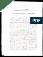 Calvino, La Letteratura Italiana Sulla Resistenza