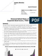 Moodys white paper Corporate Bond Defaults 1920-1999