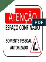 PLACA ESPAÇO CONFINADO