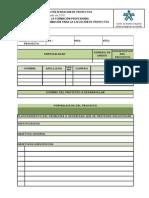 formato único de presentación de proyectos