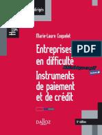 Entreprises en Difficulté Instruments de Paiement Et de Crédit by Marie-Laure Coquelet (Z-lib.org)