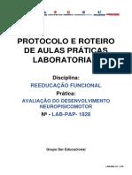 LAB-PAP-1828 - AVALIAÇÃO DO DESENVOLVIMENTO NEUROPISICOMOTOR