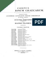Corpus Inscriptionum Graecarum. Vol. III Pt. 33B. Bockh. BOA. 1853.